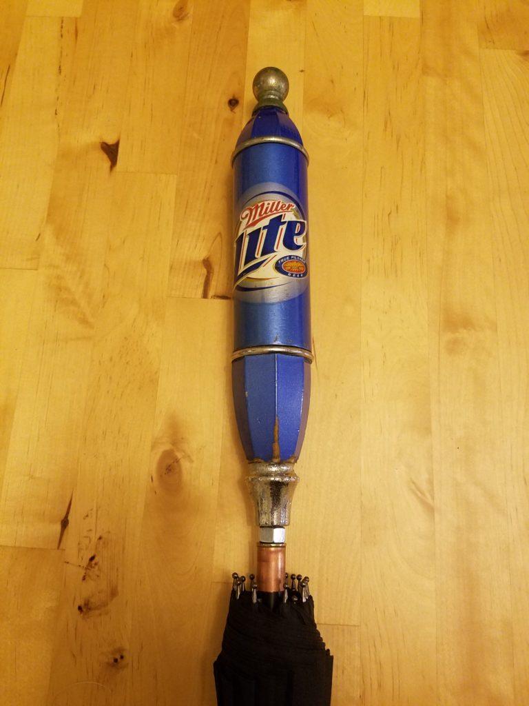 Miller Lite Beer Tap Handle Umbrella Raintaps
