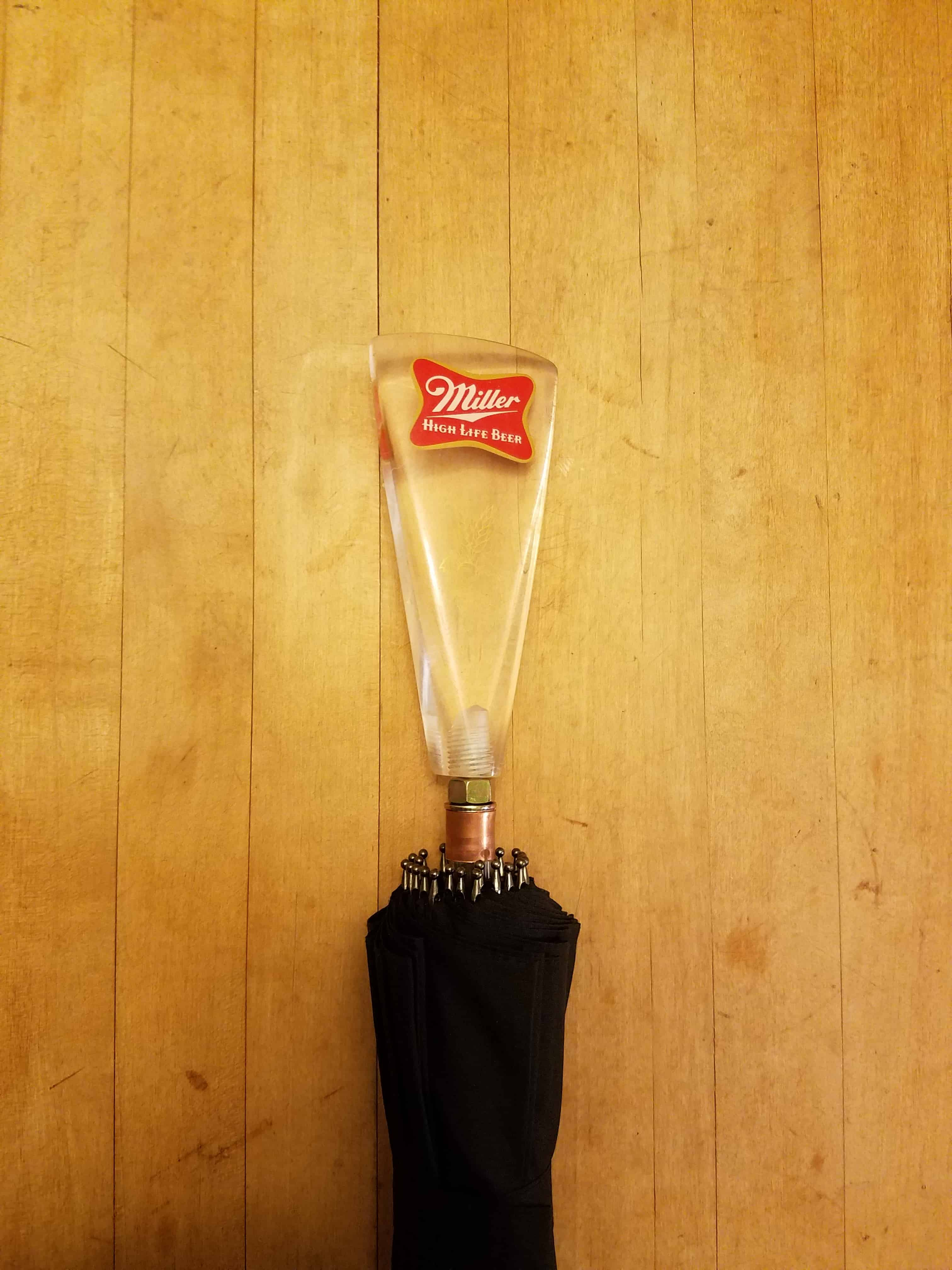 Miller High Life Tap Handle Umbrella
