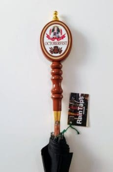 Custom umbrella with a vintage Sam Adams Octoberfest handle