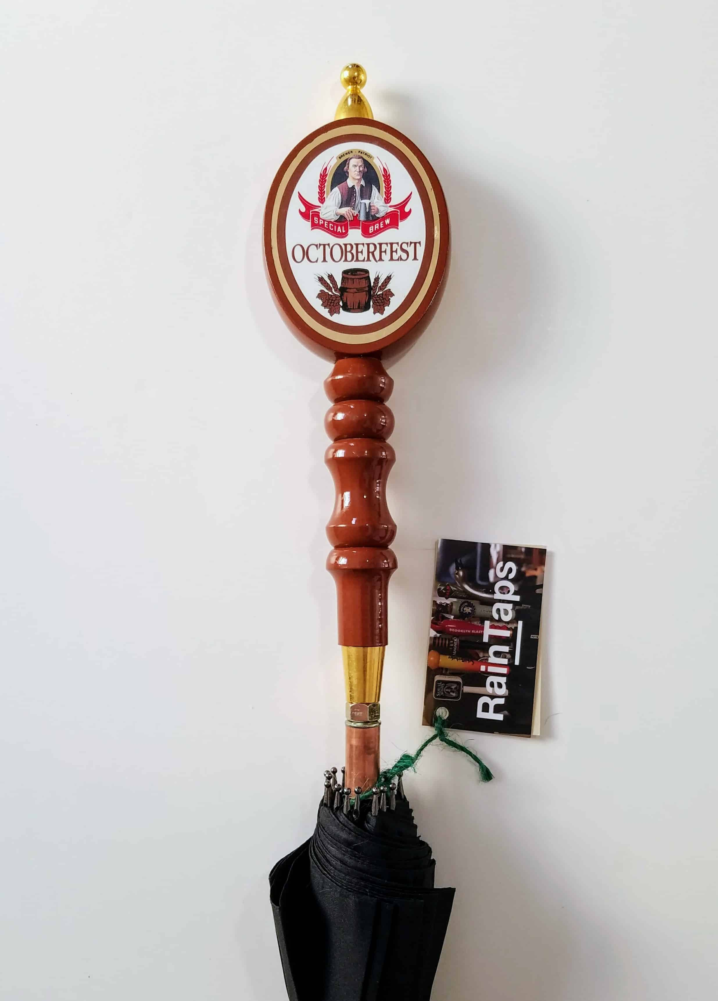 Custom umbrella with a vintage Sam Adams Octoberfest handle