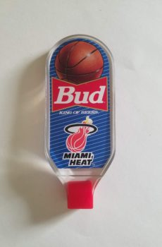 Vintage Budweiser Tap Handle for the Miami Heat