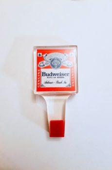 Vintage Budweiser Tap Handle Square Lucite Design