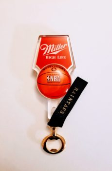 Vintage Miller High Life tap handle bottle opener NBA Spaulding version