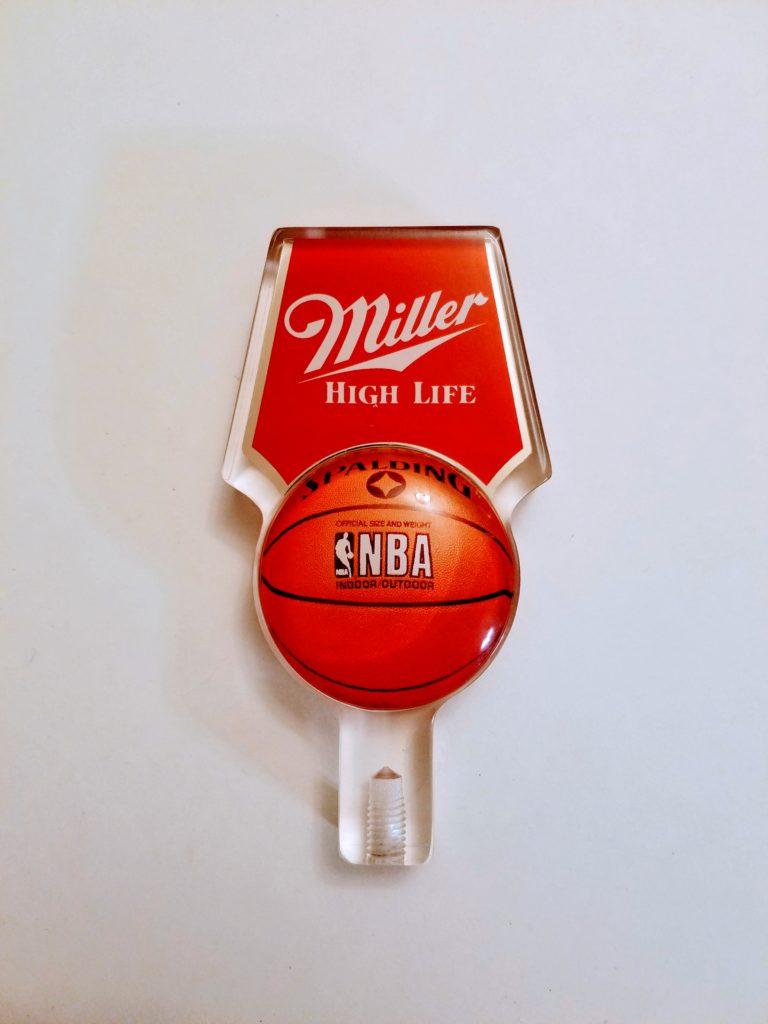Vintage Miller High Life Spaulding Nba Version Tap Handle