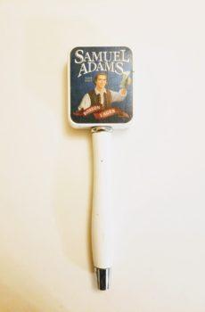 Vintage Samuel Adams Boston Lager Tap Handle Square Design