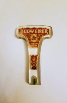 Vintage Budweiser Tap Handle - T shape in Lucite