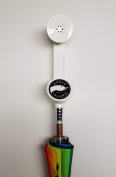 Goose Island White 312 Phone Tap Handle Umbrella