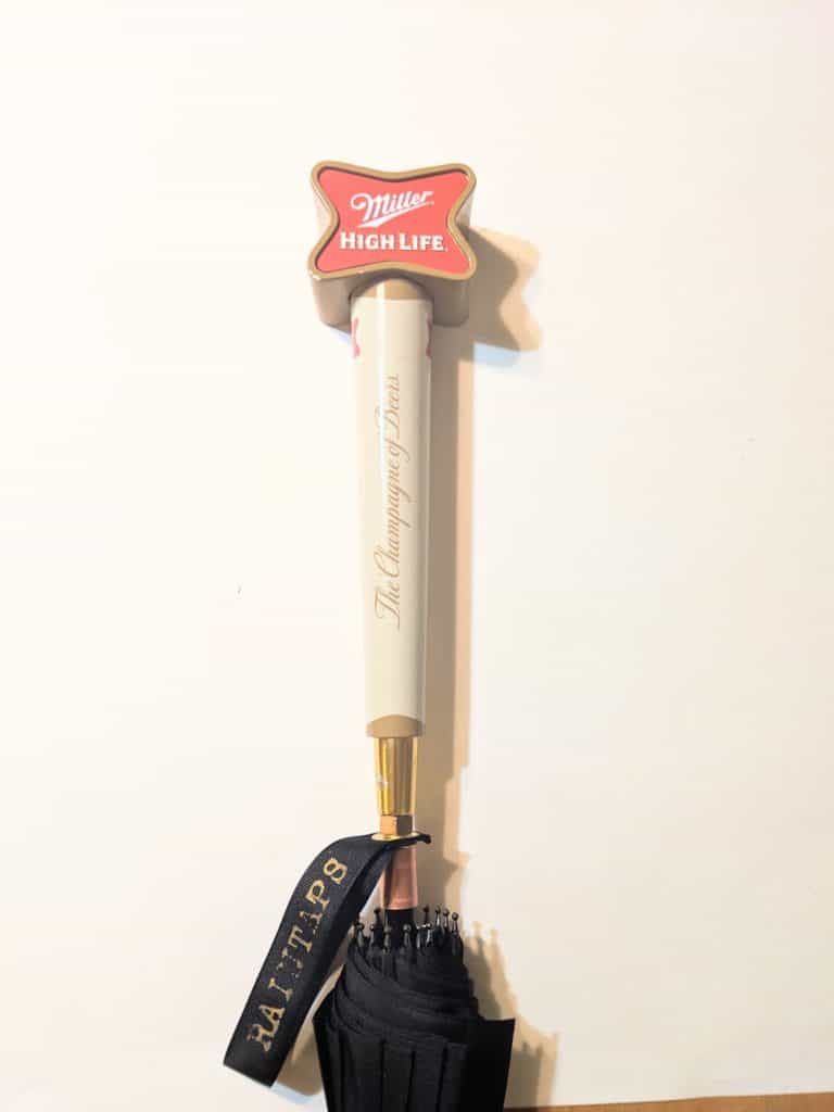 Miller High Life Tap Handle Umbrella By Raintaps Tall